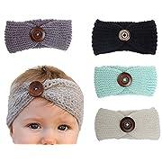 Xife Baby Girl Newborn Stretchy Cotton Headbands Girl's Hairband Wrap Turbans (ZL1217)
