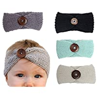 Xife Baby Girl Newborn Stretchy Cotton Headbands Girl's Hairband Wrap Turbans...