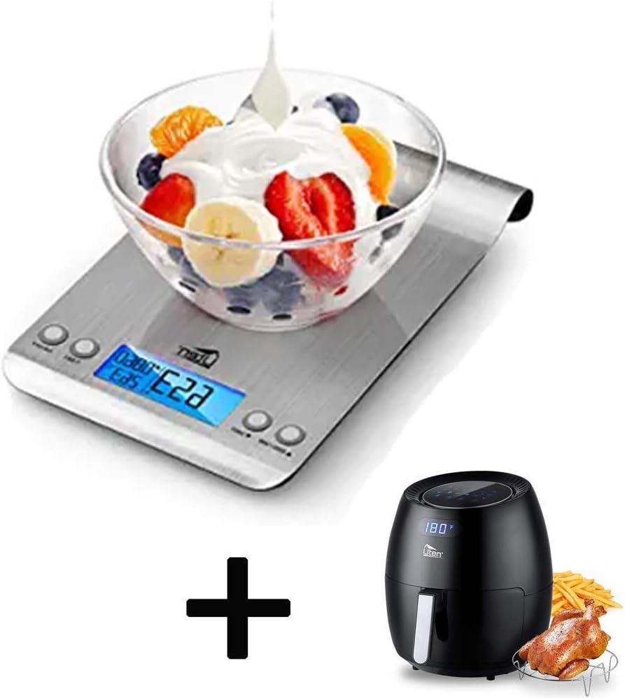 Uten Large Air Fryer 6.9QT Bundle with Uten Digital Kitchen Foods Scale