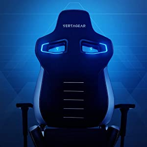 VERTAGEAR RGB LED Kit Wireless Audio Sync Gamer Customizable Upgrade Light Décor, Top Set for Gaming PL4500, Black: Chairs Sold Separately