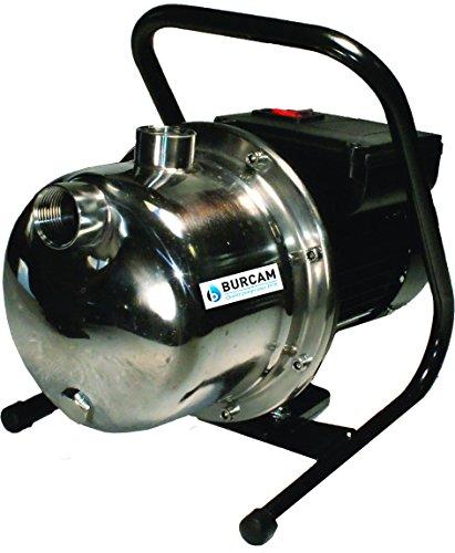BURCAM 506533SS 1 HP Stainless Steel Portable Lawn Sprinkler Pump
