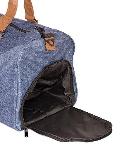 43l Trepic Duffel Drawstring Bag Laundry Weekender Vooray includes Bleu Bruyère Bag fPTnTZ