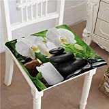 Chair Seat Pads Cushions Zen Hot Massage Stones with Orchid...
