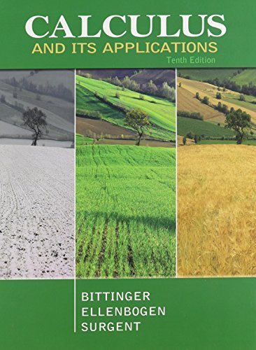 Calculus and Its Applications, MyMathLab, and Student Solutions Manual (10th Edition) by Marvin L. Bittinger (2011-04-06)
