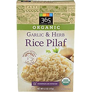 365 by Whole Foods Market, Organic Rice Pilaf, Garlic & Herb, 6.1 Ounce