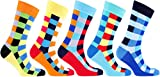 Socks n Socks-Men's 5-pair Patterned Luxury Cool Fun Cotton Dress Socks Gift Box