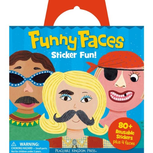 Sticker Activity Tote (Peaceable Kingdom Funny Faces Reusable Sticker Tote)