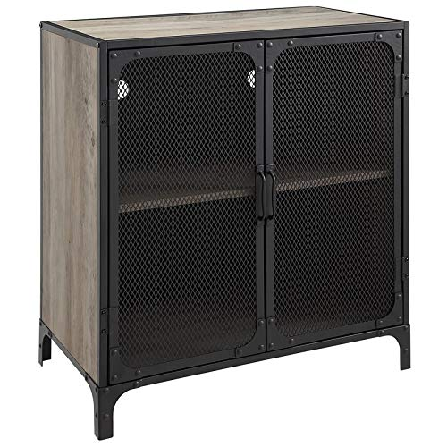 30 inch Industrial Grey Wash Accent Cabinet with -