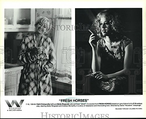 Vintage Photos Historic Images 1988 Press Photo Patti D'Arbanville Molly Ringwald,Fresh Horses - 8 x 10 in