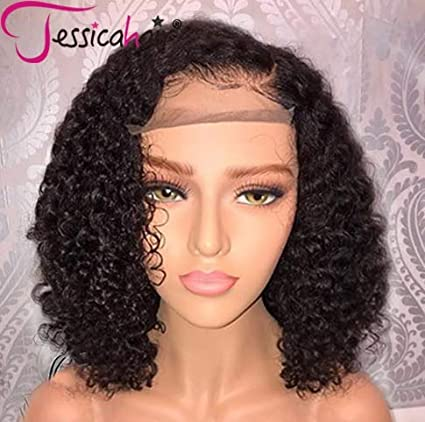 Jessica Hair 13x6 Lace Front Wigs Human Hair Wigs For Black Women Curly Brazilian Virgin Hair Glueless With Baby Hair(14 Inch With 150 Percents Density) by Jessicahair