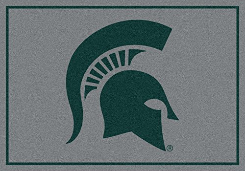 Michigan State Spartans NCAA College Team Spirit Team Area Rug (Michigan State Spartans Rug)