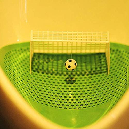 HSDDA Fu/ßball M/ännlichen WC Reiniger Fu/ßball Schie/ßen Ziel Stil Urinal Bildschirm Filter Matte Pad Gr/ün