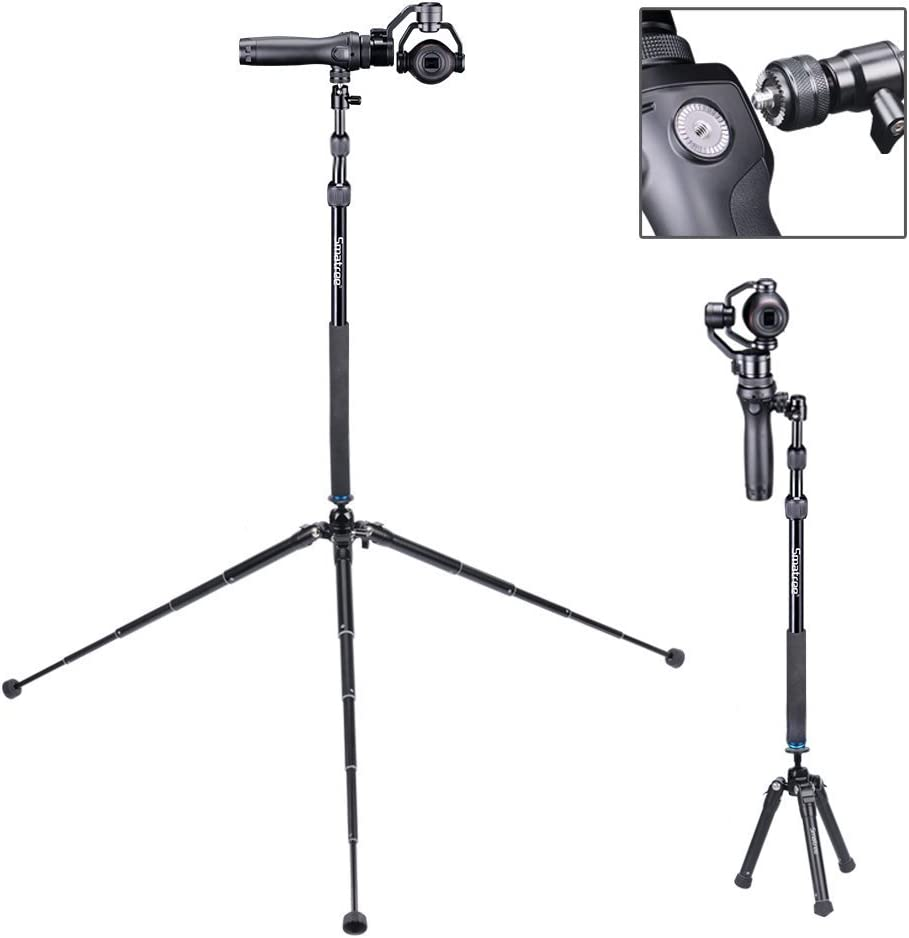 Smatree SmaPole DS2 Extendable Stick with Tripod for DJI OSMO, OSMO Mobile 3, OSMO Mobile, OSMO Pro/Raw