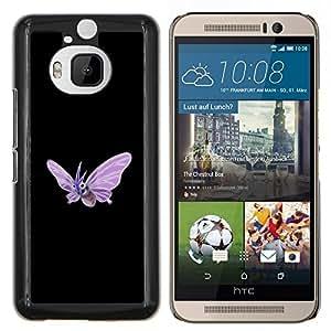 Qstar Arte & diseño plástico duro Fundas Cover Cubre Hard Case Cover para HTC One M9Plus M9+ M9 Plus (Venomoth P0kemon)