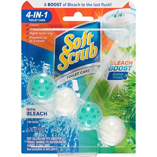 Soft Scrub 4-in-1 Toilet Care with Bleach, Alpine Fresh, 50 Gram