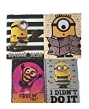 Bundle of Despicable Me 3 School Supplies; 2 Vinyl Folders and 2 Spiral Notebooks