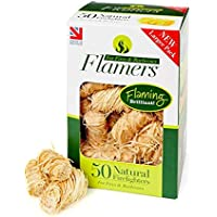 Flamers F50 Natural Fire Lighters - Brown (Pack of 50)