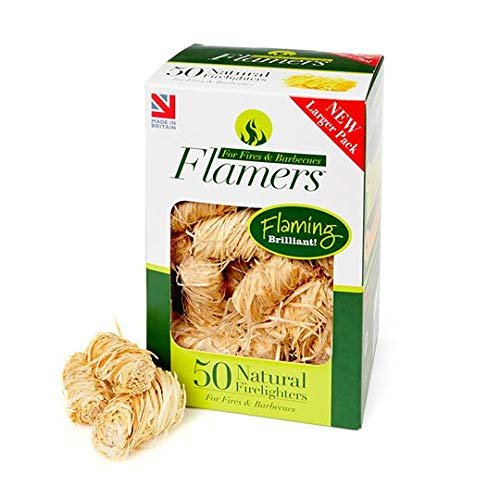 Flamers F50 Natural Fire Lighters - Brown (Pack of 50) FLA06