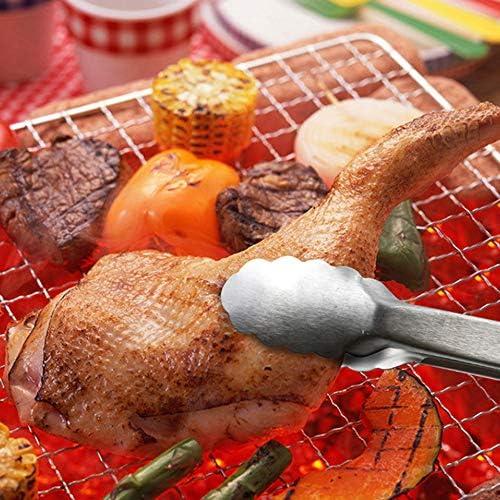 TRGCJGH Set di Utensili per Barbecue da Tavola Set di 5 Accessori Barbecue in Acciaio Inossidabile con Custodia per Il Trasporto - Kit di Attrezzi Completo