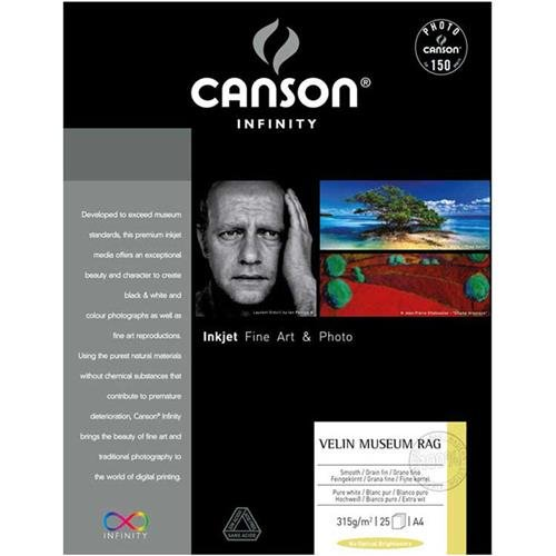 (Canson Infinity Velin Museum Rag Soft Textured Matte Paper, 315gsm, 19.9mil, 13x19