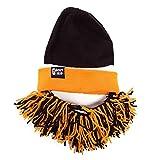 Beard Head Tailgate Series Barbarian Beanie w/ Beard Hat (Black & Orange)