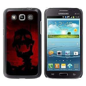 TopCaseStore / la caja del caucho duro de la cubierta de protección de la piel - Evil Laughing Skull Skeleton - Samsung Galaxy Win I8550 I8552 Grand Quattro