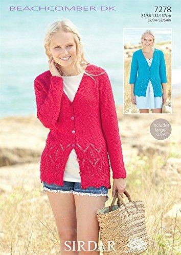 64fb864ebffd Sirdar Ladies Cardigans Beachcomber Knitting Pattern 7278 DK  Amazon.co.uk   Kitchen   Home