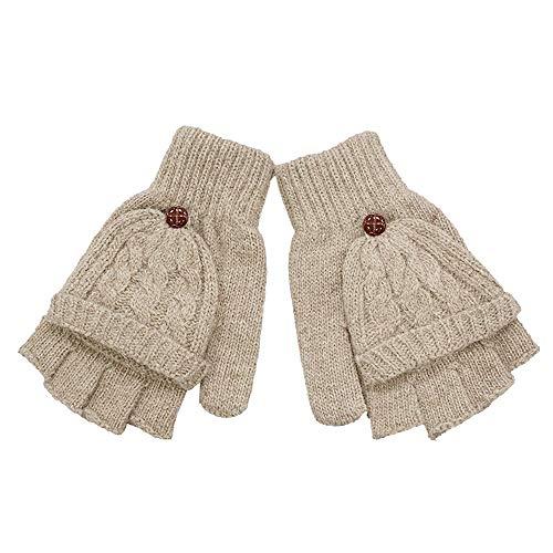 XOWRTE Womens Warmer Winter Warm Fingerless Gloves