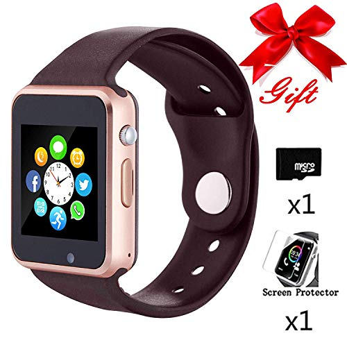 Bluetooth Smartwatch,Smart Watch Unlocked Watch Phone can Call Text Touchscreen Camera Notification Sync Android -