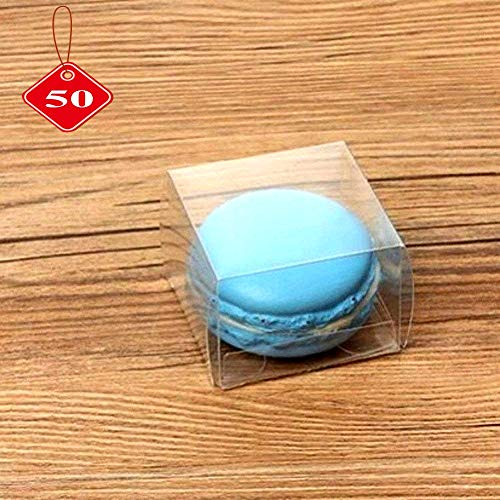 RomanticBaking 50 Clear Single Macaron Box For Wedding
