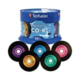 VERBATIM 94587 CD-R Media 700mb 80min Digital Vinyl Branded w/Spindle 50-pk - NEW - Retail - 94587