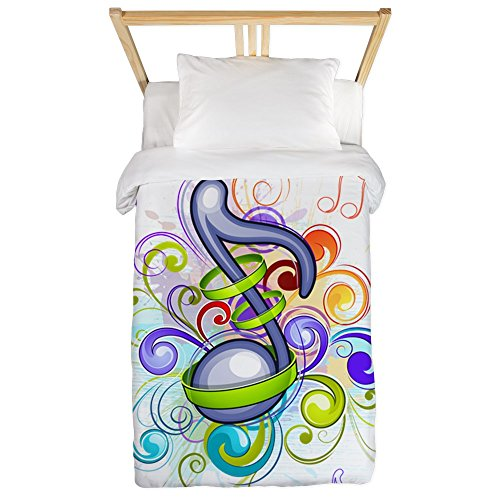 Truly-Teague-Twin-Duvet-Cover-Music-Note=Colorful-Burst