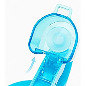 Portable 2L Large Capacity Sports Water Bottle Hydrate Drinking Bottle, BPA Free, Leak Proof, Wide Mouth, for Bodybuilding, Travel, Sports and Outdoors, Blue