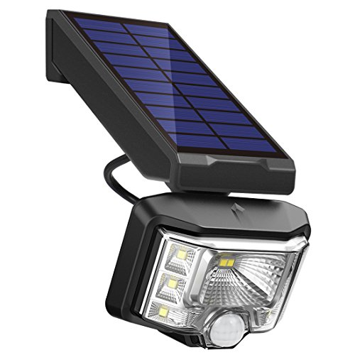 InnoGear 550LM Solar Lights Outdoor with Wide Lighting Area Wireless Motion Sensor Security Night Light Wall Sconce Lamp Waterproof for Front Door Back Yard Driveway Garage Patio and Garden