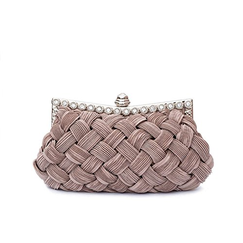 Tote Light Chains Bag Women's Clutch Evening Bride Coffee Party With Bag Knitted amp;OS ZJ Clutch Day Diamond Z1Px070