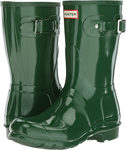 Hunter Women's Original Short Gloss Hunter Green Rain Boots - 6 UK 39 EU 8 US
