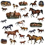 RoomMates RMK1017SCS Wild Horses Peel and Stick Wall Decals, Baby & Kids Zone