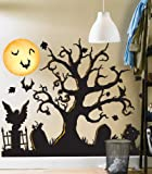 Halloween Spooky Cemetery Giant Wall Decals Birthday Express