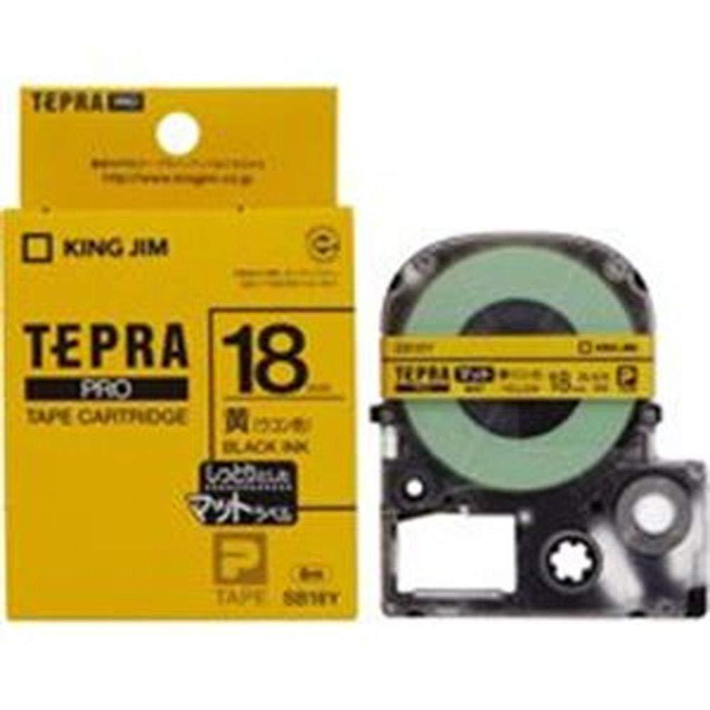 -業務用30セット-キングジムテプラPROテープ/ラベルライター用テープ-マット/幅:18mm-SB18Yイエロー-黄- B07TJ9HPH8
