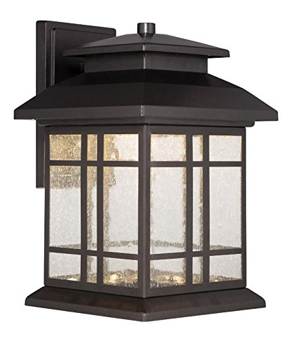 Oil Rubbed Bronze Piedmont 12.75in. Height 1 Light Energy Star LED Outdoor Lantern Wall Sconce by Designers Fountain