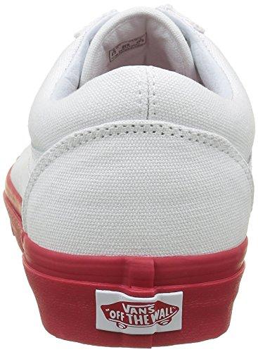 Vans Unisex-erwachsene Old Skool Riemissione Sneakers Rot ((mlx) Vero Bianco / Formulare Uno)