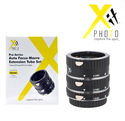 Xit XTETC Auto Focus Macro Extension Tube Set for Canon SLR Cameras (Black) (Auto Focus Extension compare prices)