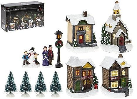Decorazioni Luminose Natalizie Fai Da Te : Toyland set da scena villaggio pezzi illuminati decorazioni