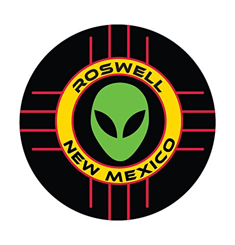 - R and R Imports Roswell New Mexico UFO Alien I Believe Souvenir 4 Inch Round Magnet