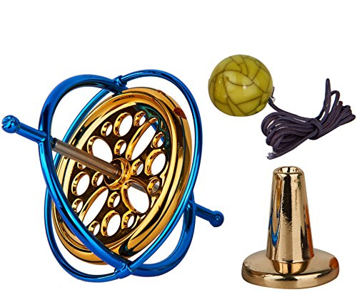 (Joytech Precision Gyroscope Metal Anti-Gravity Spinning Top Balance Toy Educational Gift AG002)