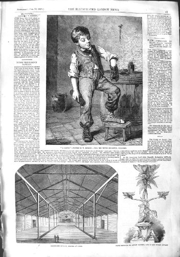 Antique Print 1855 Temperance Pavilion Dunse Captain Macleod Shoe Boy 041P126