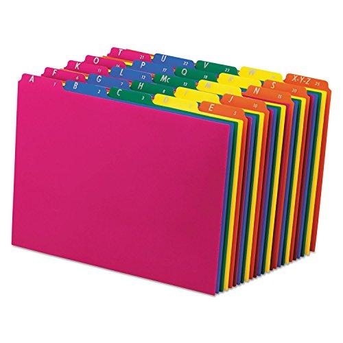 (Pendaflex 40142 Top Tab File Guides, Alpha/A-Z 1/5 Tab, Polypropylene, Letter, 25/Set)