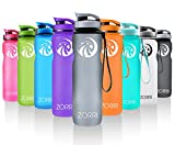 oasis 100 juice - Sport Water Bottle 20oz/1000ml,Leak Proof BPA Free Eco-Friendly Plastic Drink Beverage Best Water Bottles for Travel/Hiking/Camping/Outdoor/Running/Gym Flip Top Lid & Filter Opens with 1-Click