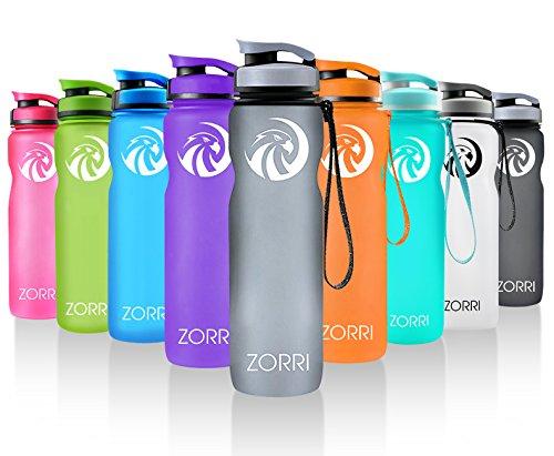 ZORRI Sport Water Bottle 20oz/1000ml,Leak Proof BPA Free Eco-Friendly Plastic Drink Beverage...