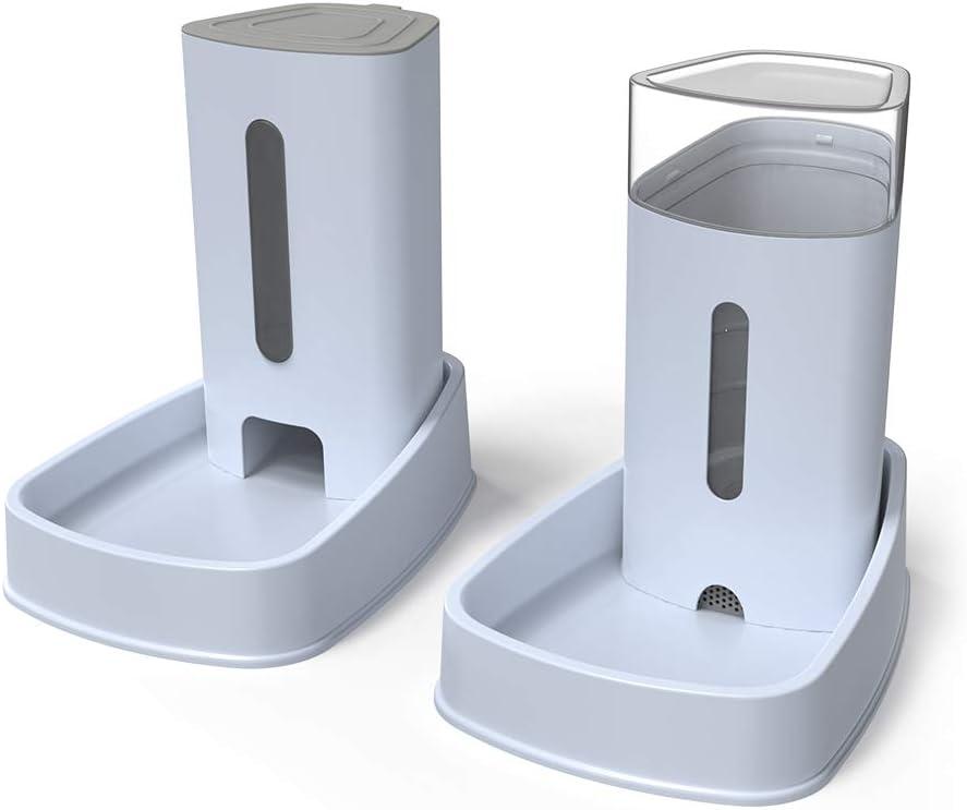 YGJT Distribuidores Automáticos de Alimentos/Agua para Gatos y Perros Alimentador Automático de Mascotas - 2 Piezas - 3.8L Productos para Mascotas